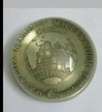 Vintage paperweight 2000 MAS medal millennium year rare !!