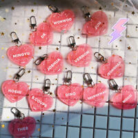 2019 New Kpop SEVENTEEN Glitter Acrylic Keychain HOSHI Heart Pendant Keyring