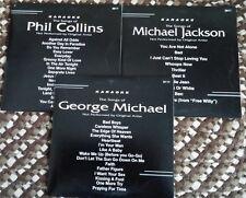 3 CDG SET 1980'S MALE KARAOKE HITS - MICHAEL JACKSON,PHIL COLLINS,GEORGE MICHAEL