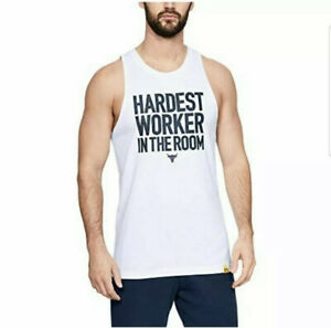 Under Armour Project Rock Hardest Worker In The Room Sleeveless Tank Top Size XL