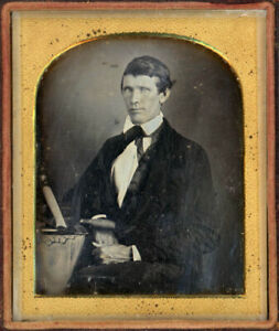 OCCUPATIONAL 1840s DAGUERREOTYPE MASON'S TOOLS HAMMER CHISEL TROWEL TOUGH HANDS
