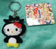 NWT Sanrio Hello Kitty Keyring with Plush in Badtz Maru Costume NEW