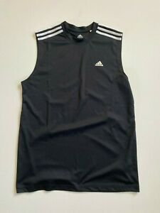 Adidas Shirt Men's Small Sleeveless Muscle Tank Black
