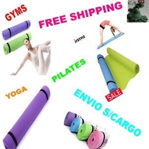 Genuine 6mm Thick EVA Thick Foam Mat for Exercise, Yoga Pilates Gyms Fitness