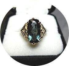 Tourmaline INDICOLITE Ring - Bluish-Green - 2.70 CT - Vintage 14K Yellow Gold
