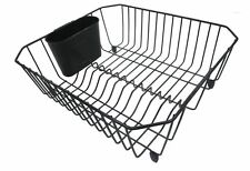 Style Selections Coated Wire Plate Dish Rack Drainer Kitchen Holder Sink Drying