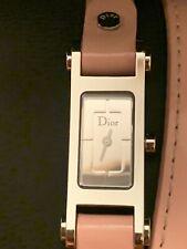 GENUINE Christian Dior wrap around the wrist pink leather watch