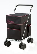 Little Donkee Shopping Trolley in Black and Fuchsia (PUSH version)
