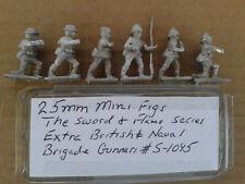 25mm Mini Figs Sword & Flame Series British &  Naval Brigade Gunners