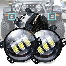 "2x 4"" Inch Round 30W LED Fog Lights for Jeep Wrangler JK Model 07-15 CJ LJ"