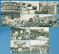 Set of 10 NEW B&W Fairground Postcards for Postcrossing & Postcardsofkindness