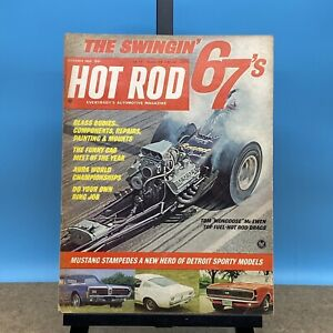 """Vintage HOT ROD Magazine October 1966 Issue Mustang Tom """"Mongoose"""" McEwen"""
