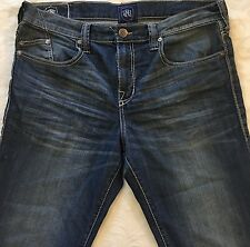 Men's ROCK & REPUBLIC Rider Relaxed Blue Jeans 36X31 36 31 Zip Fly RN# R510147