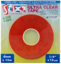 PERMANENT ADHESIVE ULTRA CLEAR TAPE DOUBLE SIDED VERY HIGH TACK 3mm x 15m S57084