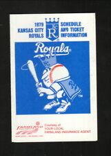 Kansas City Royals--1979 Pocket Schedule--Farmland Insurance