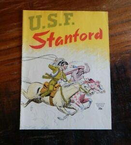 1950 USF SAN FRANCISCO DONS VS STANFORD INDIANS COLLEGE FOOTBALL PROGRAM NICE