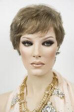 Light Golden Reddish Brown with 35% Grey Blonde Medium Short Human Hair Wav Wigs