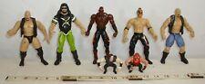 WWF, WWE, WCW WRESTLING ACTION FIGURES LOT OF SEVEN JAKKS #5