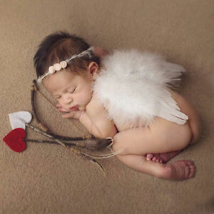 Feather Angel Wings Soft Baby Fancy Dress Christmas Tree Hanging  Decor Gifts