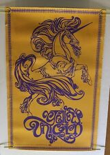 Yellow Unicorn Vintage Blacklight Poster Dunham & Deatherage Psychedelic 1960's