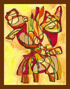"Painting,original art on canvas, ""Log ""-Rene Castillo-Ramos"