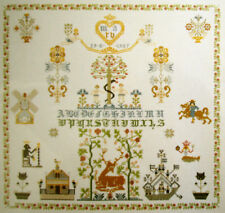 NEW DUTCH CROSS STITCH KIT ANTIQUE SAMPLER TREE OF LIFE THEA GOUVERNEUR 1082