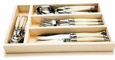 Laguiole Jean Dubost 24 Piece Flatware set (knives, spoons, forks)-Ivory