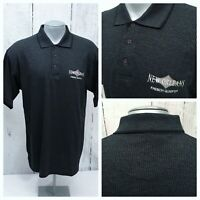 NEW ORLEANS FRENCH QUARTER L LARGE S/S POLO SHIRT BLACK / GRAY HEATHER