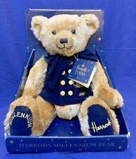 Collectible Harrods Knightsbridge London 2000 Millennium Bear with Original Box