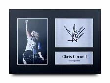 Chris Cornell Signed Pre Printed Autograph A4 Photo Gift For a Soundgarden Fan