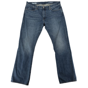 Gap 1969 Boot Mens Faded Distressed Ring Spun Denim Jeans Blue Size 40x36