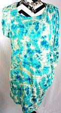 Micheal Kors MK Top M Size Medium Tie Dye Asymmetrical Drape Womens Shirt Blouse