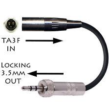 TA3M/TA3F 3 PIN MINI XLR MICROPHONE ADAPTER FOR 3.5mm SONY UTX WRT TRANSMITTERS