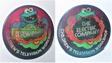 RARE 1973 SESAME STREET COOKIE MONSTER Vari-Vue sfarfallio lampeggiante Pin/BADGE