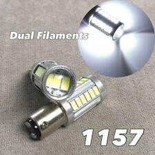 Brake Stop Light 1157 2057 3496 7528 33 BAY15D White SMD LED Bulb W1 For V W E