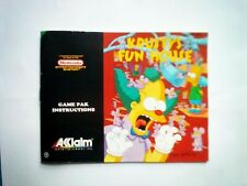 Krusty's Fun House (NES) Manual UKV