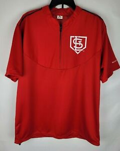 St. Louis Cardinals MLB 1/4 Zip Pullover SGA Monsanto Red Shirt Jacket