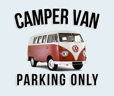 "METAL SIGN - VW CAMPER VAN WALL PLAQUE IDEAL GIFT - NOVELTY XMAS GIFT 8"" X 6"""