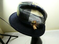 Shandon Hats Pure  Wool Tweed Donegal Multi-colour Patchwork Hat/Cap L