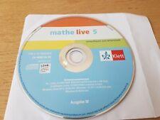 mathe live 5 Mathematik 5. Klasse Lernsoftware zum Arbeitsheft CD-ROM neuwertig