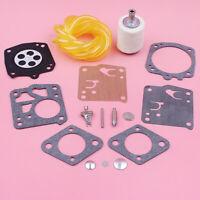 Carburetor Repair Kit For Homelite XL SXL915 XL-12 Super XL w Fuel Filter Line