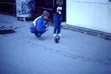 Vintage Kodak Kodachrome Slide Negative, Woman & Girl Feeding A Squirrel