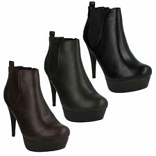 Stiletto Patternless Ankle Boots for Women