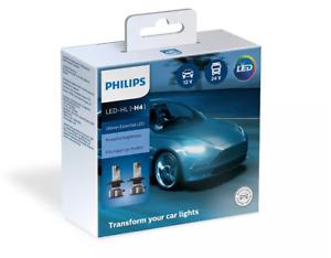 PHILIPS H4 LED Ultinon Essential Car Headlight Bulbs 6500K White