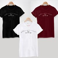 Follow Your Heart T-Shirt - Funny Cute Tee Top Slogan Summer Holiday Love