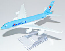 A380 AIRBUS KOREAN AIR AIRLINES16CM METAL PLANE MODEL DIECAST STAND DESKTOP GIFT