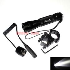 UltraFire 501B CREE XM-L L2 LED 1000LM 1Mode Tactical Flashlight + Remote Switch