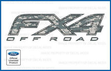 set of 2: Ford F150 FX4 Off Road Decals - FDCACU - Digital Camo ACU stickers bed