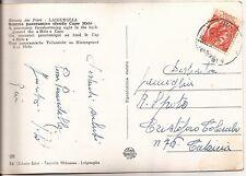 14-6-1953 L. 10 TURRITA RUOTA SU CARTOLINA DA LAUGUEGLIA DI PINA PIRANDELLO