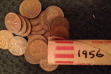 1956 Roll of Pennies - Copper - Circulated
